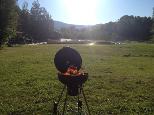 Grillin out at Jessica's family ranch in Utah