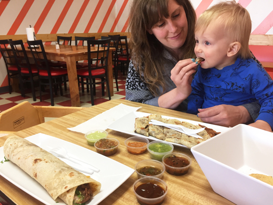 2017 was monumental. The best part has been watching my little guy grow into a person with language and preferences. As you can see in the pic above, he's got good taste in quesadillas.
